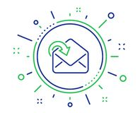 Receive Mail download line icon. Incoming Messages correspondence sign. Vector. Receive Mail download line icon. Incoming Messages correspondence sign. E-mail vector illustration