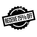 Receive 25 Off rubber stamp. Grunge design with dust scratches. Effects can be easily removed for a clean, crisp look. Color is easily changed Royalty Free Stock Photo