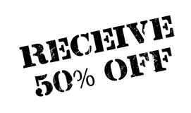 Receive 50 Off rubber stamp Royalty Free Stock Photo