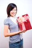 Receive a present Stock Images