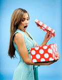 Receive a present Royalty Free Stock Image