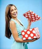Receive a present Royalty Free Stock Photos