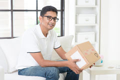 Received courier box Stock Images