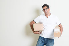 Received courier boxes Royalty Free Stock Photography