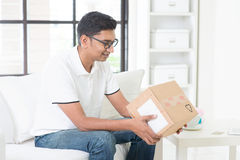 Received courier delivery Royalty Free Stock Photography