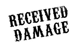 Received Damage rubber stamp Stock Photography