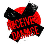 Received Damage rubber stamp Stock Image