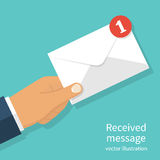 Received message concept Stock Photography