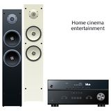Receiver and speakers Stock Images