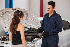 Receiving car from a customer Stock Images