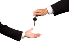 Receiving car key Stock Photography