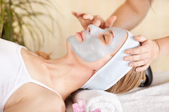 Receiving Cosmetic Facial Mask Stock Image