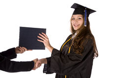 Receiving diploma Royalty Free Stock Photos