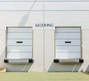 Receiving dock doors Royalty Free Stock Images