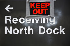 Receiving dock sign Royalty Free Stock Photography