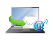 Receiving an email. illustration design Stock Photo