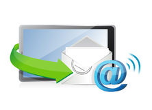 Receiving an email. illustration design Royalty Free Stock Images
