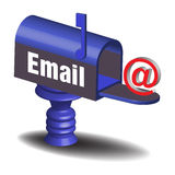 Receiving emails Royalty Free Stock Photography