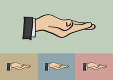 Receiving Hand Gesture Isolated on Different Background Royalty Free Stock Photo