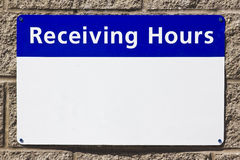 Receiving Hours Royalty Free Stock Image