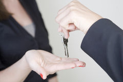 Receiving keys Stock Image