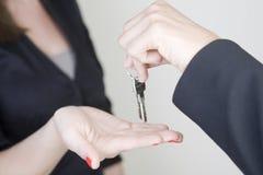 Receiving keys Stock Image