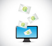 Receiving mail on a computer. illustration design Royalty Free Stock Photos