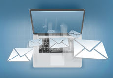 Receiving mail on a personal computer Royalty Free Stock Images