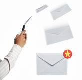 Receiving message Royalty Free Stock Photos