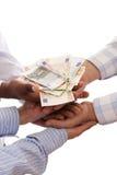 Receiving the money Stock Photos