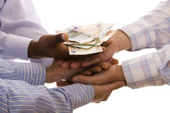 Receiving the money Royalty Free Stock Photo