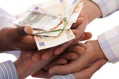 Receiving the money Stock Photo