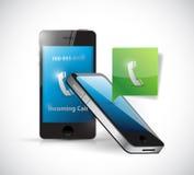 Receiving a phone call. message bubble Stock Photos