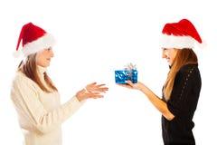 Receiving a present Stock Photos