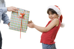 Receiving a present Royalty Free Stock Images