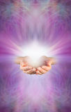 Receiving a Reiki Attunement Stock Photos