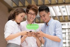 Receiving text message Stock Photo