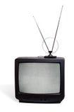 Receivor della televisione dell'a tubo catodico con l'antenna Immagine Stock Libera da Diritti
