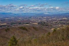 Recent de Winterweergeven van Shenandoah-Vallei royalty-vrije stock fotografie