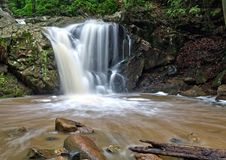 Maryland forest waterfall Stock Image