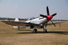Recent modelsupermarine spitfire stock foto