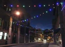 Recent - nacht in Bisbee tijdens de Vakantie Royalty-vrije Stock Foto's
