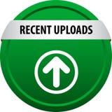Recent uploads web button stock illustration