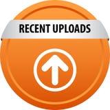 Recent uploads web button royalty free illustration