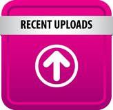 Recent uploads web button vector illustration