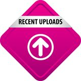 Recent uploads web button royalty free illustration