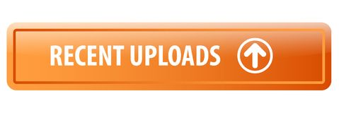 Recent uploads web button stock illustration