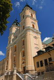 Recente Barokke Basiliek in het Oude Dorp Polen, Podkarpackie-Provincie Royalty-vrije Stock Foto