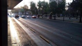 Recente de zonsondergangdageraad van zonauto's Stock Afbeelding