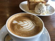 Recente kunst, koffie stock foto's